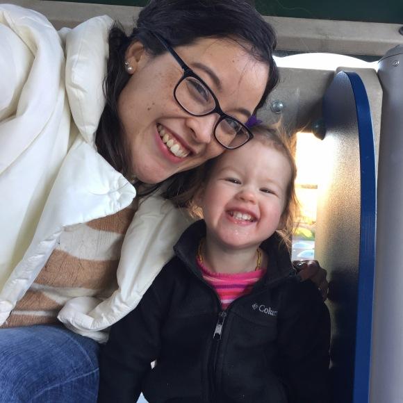 playground fun with my girl before swim class