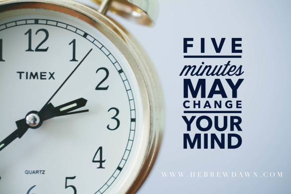HebrewDawn: five minute challenge