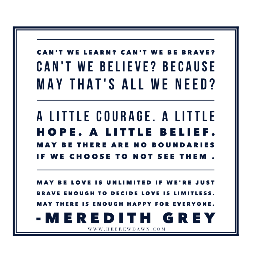 HebrewDawn: Meredith Grey quote