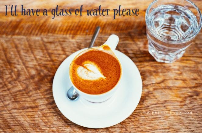 HebrewDawn: Just Have Water - 3 week water challenge